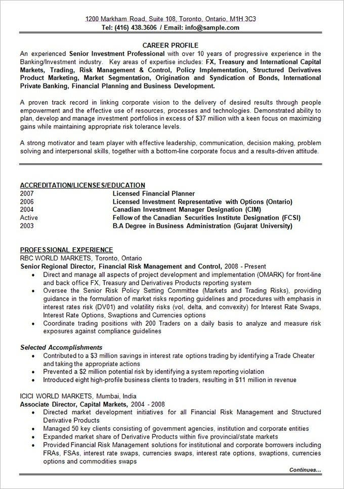 best resume formats pdf free premium templates sample for years experience banking Resume Sample Resume For 13 Years Experience