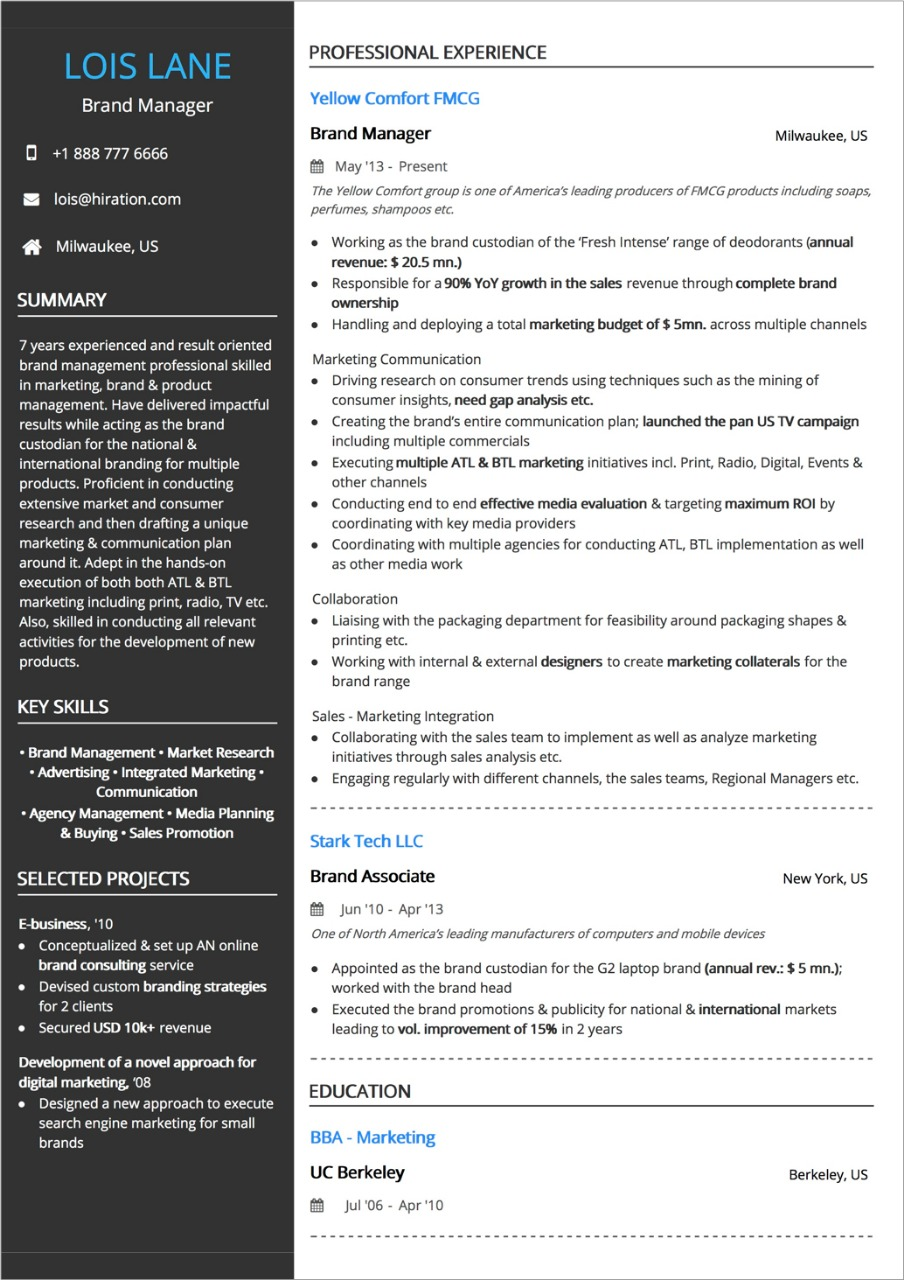 best resume layout guide with examples and samples column template two medical Resume Resume 2 Column Template