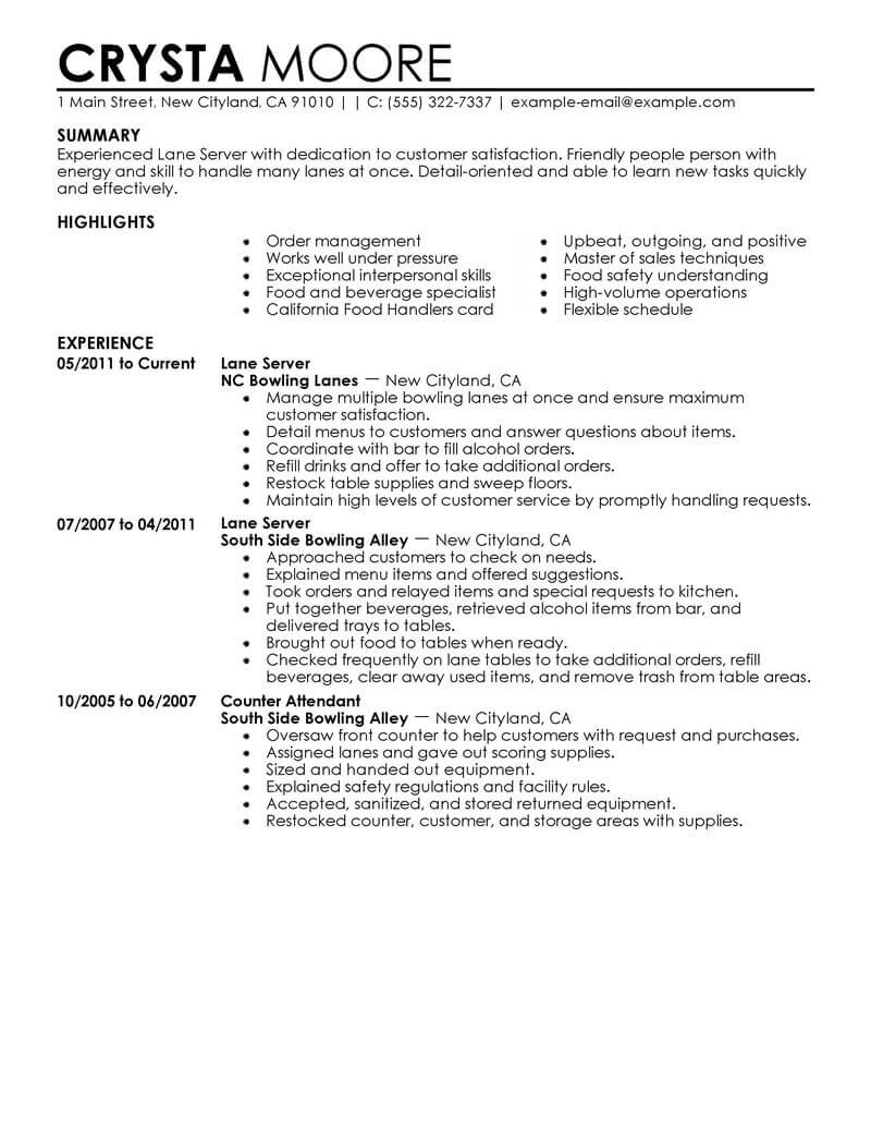 best server resume example livecareer job duties for on media entertainment contemporary Resume Job Duties For Server On Resume