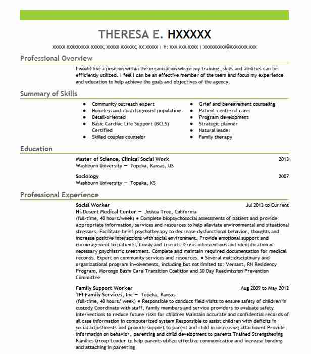 best social worker resume example livecareer sample templates executive summary template Resume Social Worker Resume Sample Templates