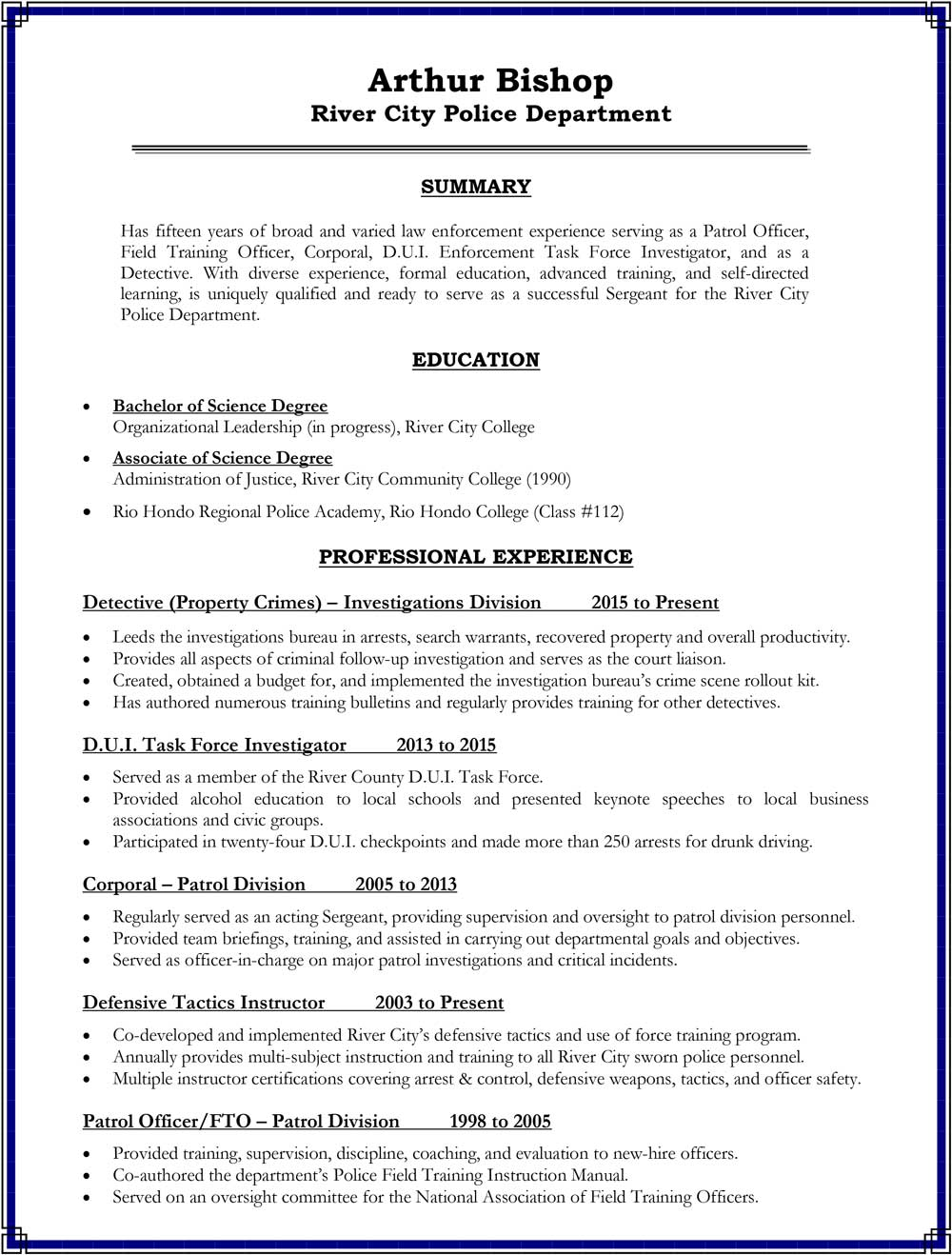 building your promotional resume consider these sections police promote objective for Resume Objective For Promotion Resume