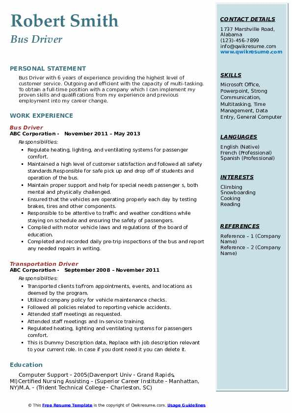 bus driver resume samples qwikresume for position pdf production support sample proper Resume Resume For Bus Driver Position