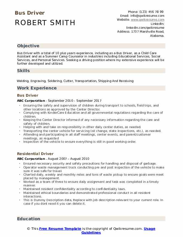 bus driver resume samples qwikresume for position pdf sample librarian information Resume Resume For Bus Driver Position