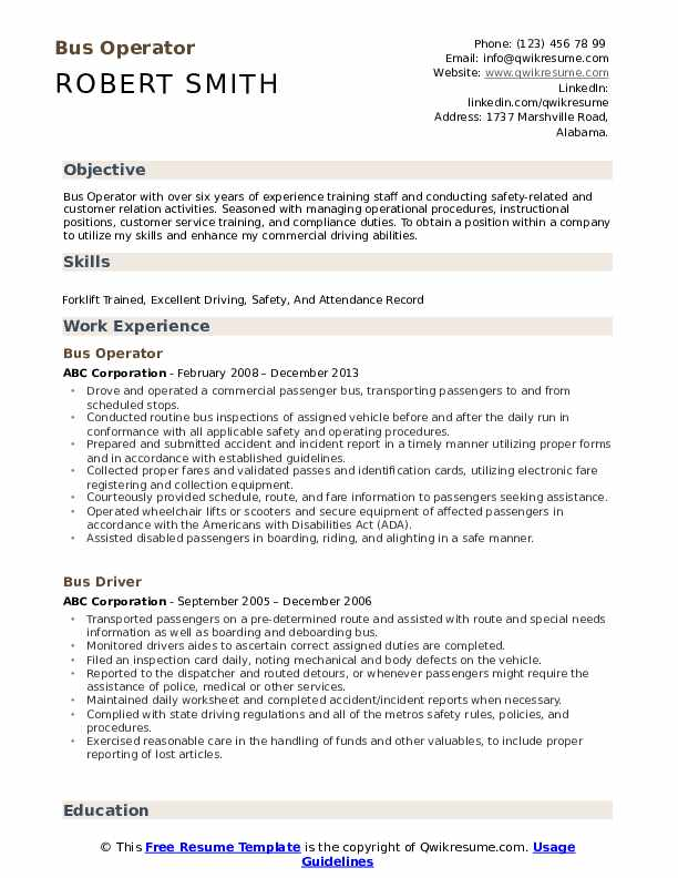 bus operator resume samples qwikresume for driver position pdf data entry objective Resume Resume For Bus Driver Position