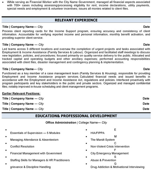 business administration resume sample template for position adm management p2 your skills Resume Resume For Business Administration Position