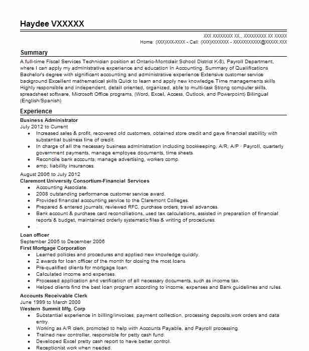 business administrator resume example livecareer for administration position janitor Resume Resume For Business Administration Position