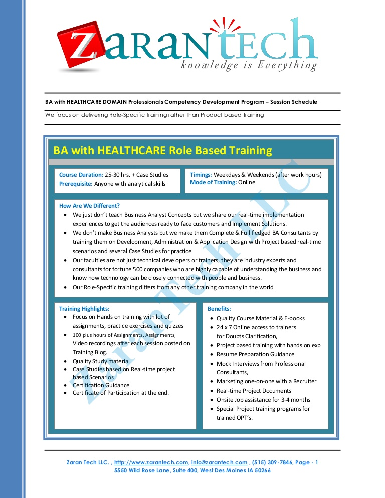 business analyst health care domain training healthcare project description for resume Resume Healthcare Domain Project Description For Resume