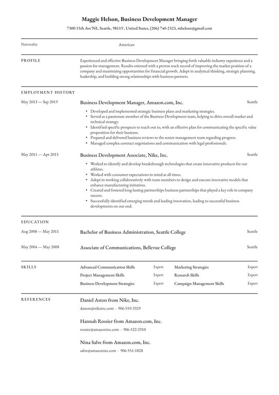 business development manager resume examples writing tips free guide io management Resume Business Management Resume Example
