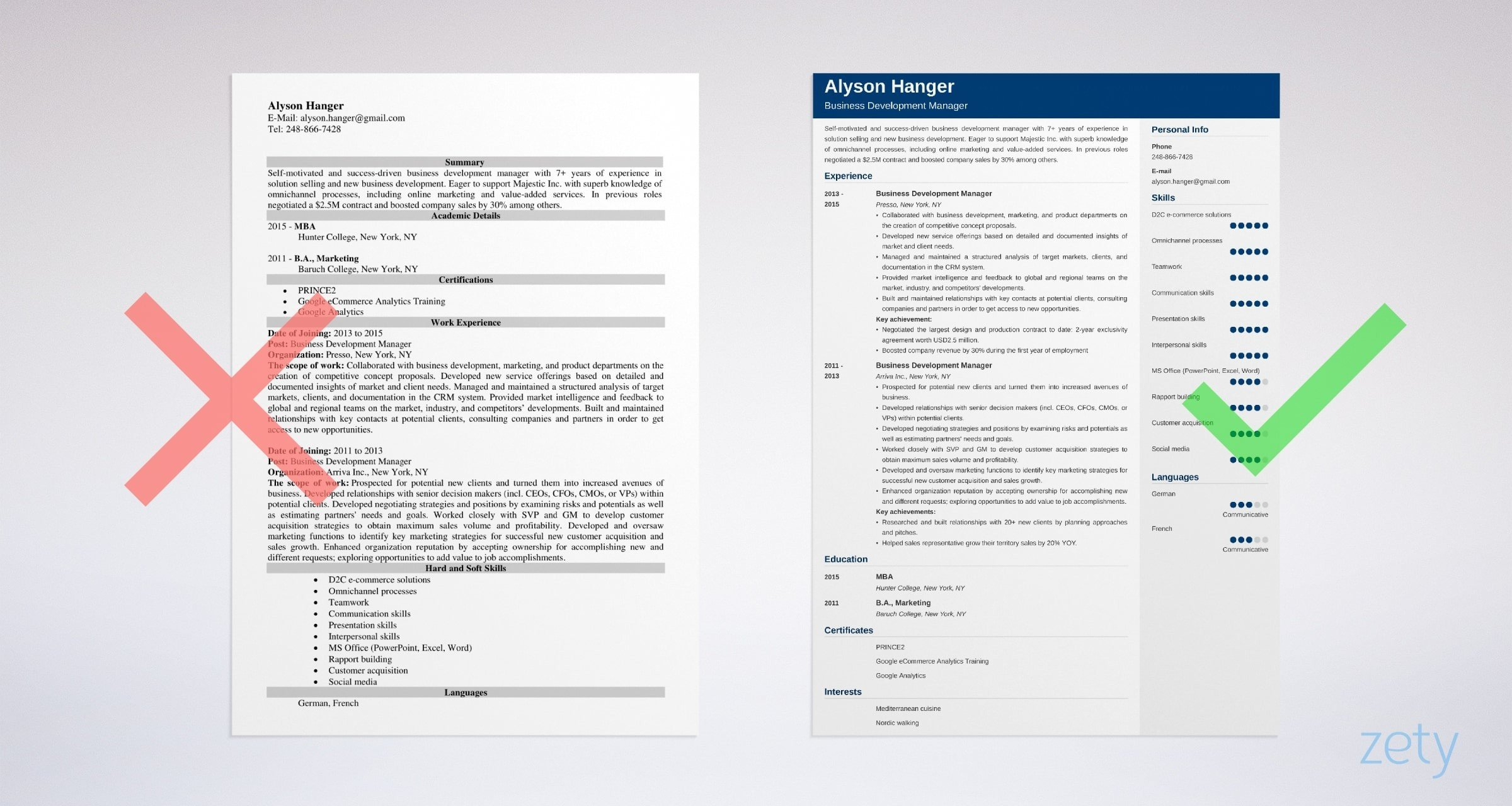 business development manager resume sample tips best format for example structure Resume Best Resume Format For Business Development Manager