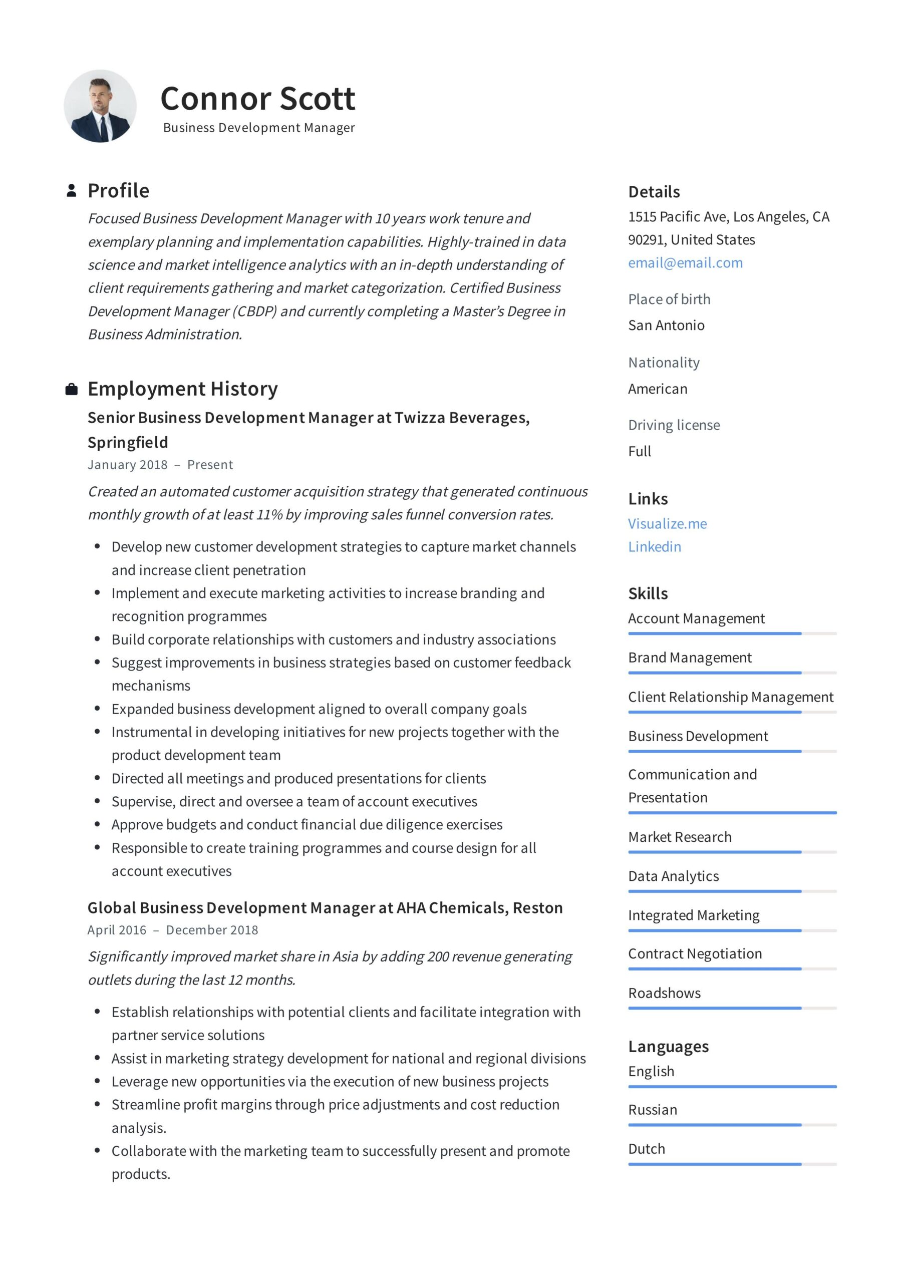 business development manager resume template guide examples writing best format for ats Resume Best Resume Format For Business Development Manager