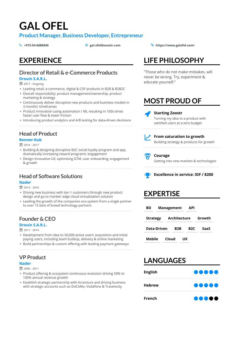 business development resume samples and writing guide for enhancv best format manager Resume Best Resume Format For Business Development Manager