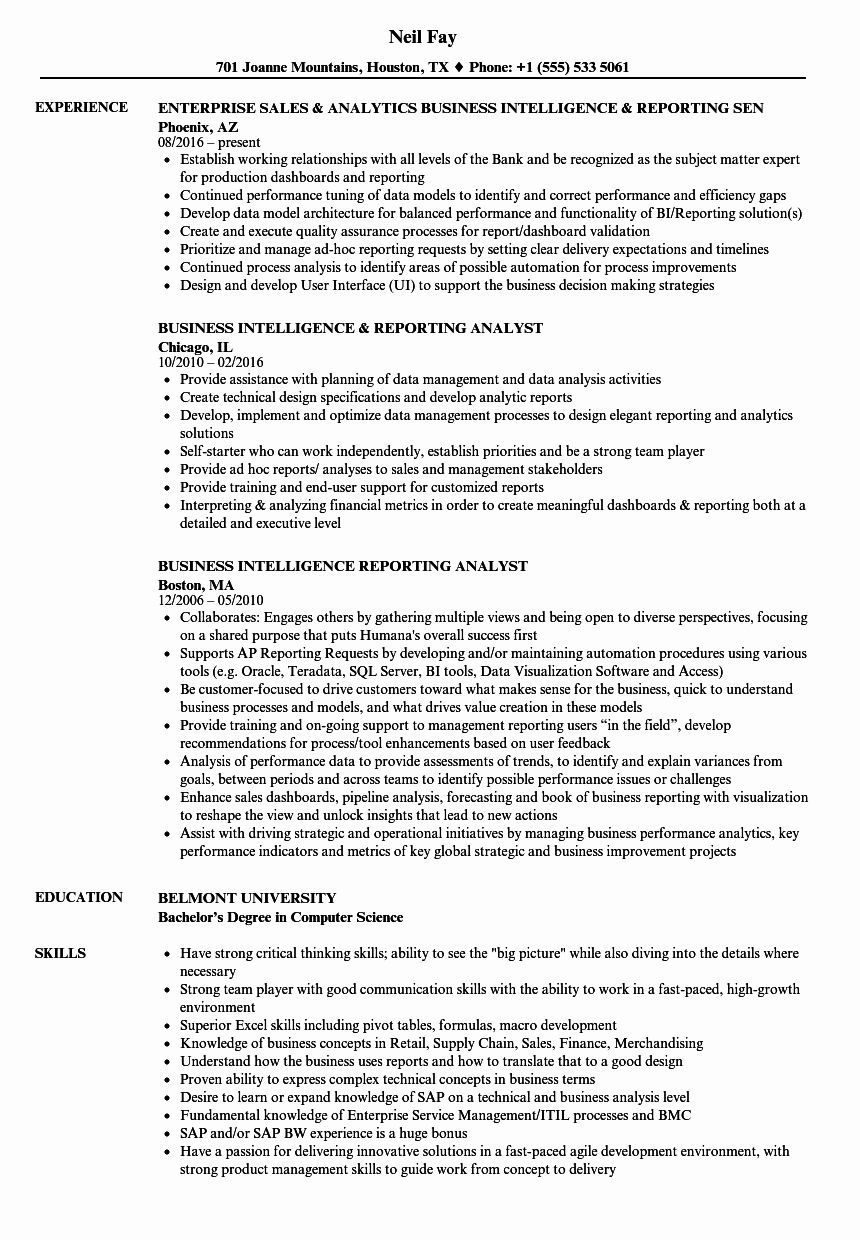 business intelligence analyst resume luxury reporting sampl job samples free stock photos Resume Reporting Analyst Resume