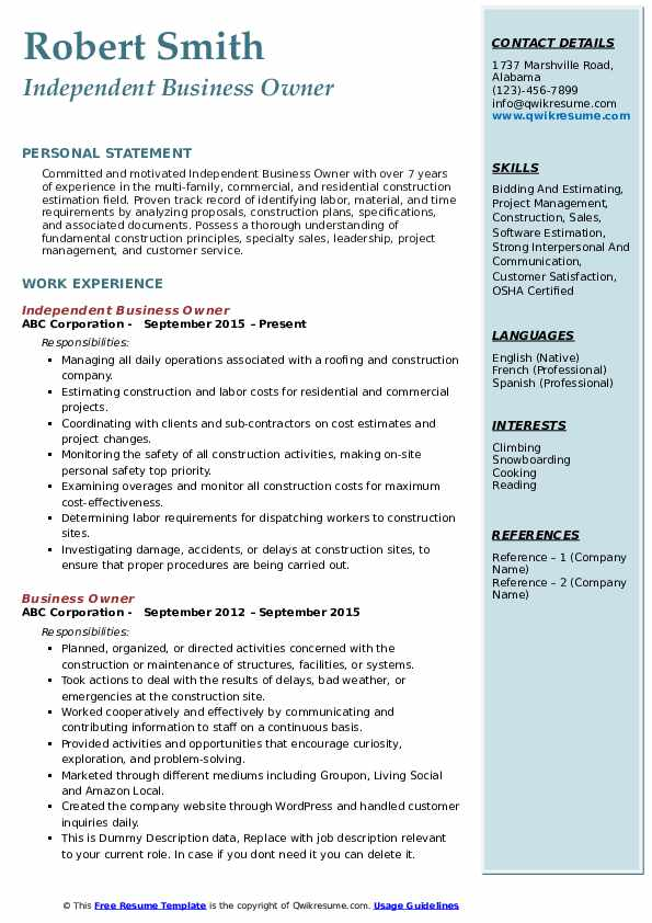 business owner resume samples qwikresume for owning your own pdf career consulting now Resume Resume For Owning Your Own Business