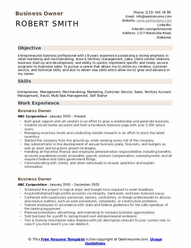 business owner resume samples qwikresume for owning your own pdf grocery clerk Resume Resume For Owning Your Own Business