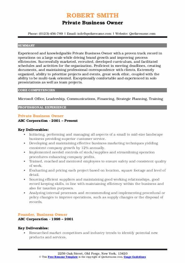 business owner resume samples qwikresume small sample pdf terms format for civil Resume Small Business Resume Sample
