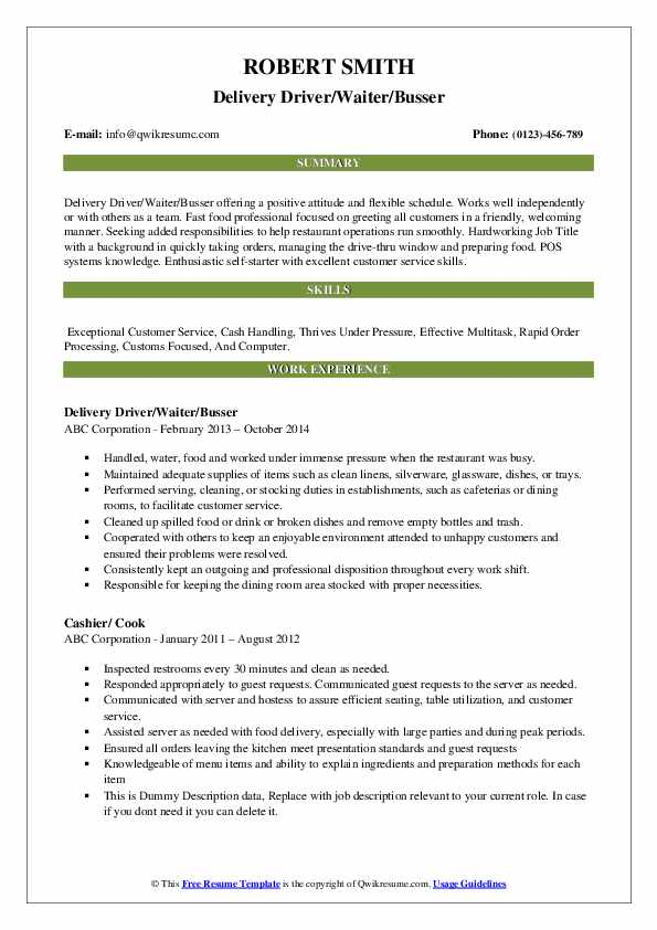 busser resume samples qwikresume food runner pdf script writer sample entry level civil Resume Busser Food Runner Resume
