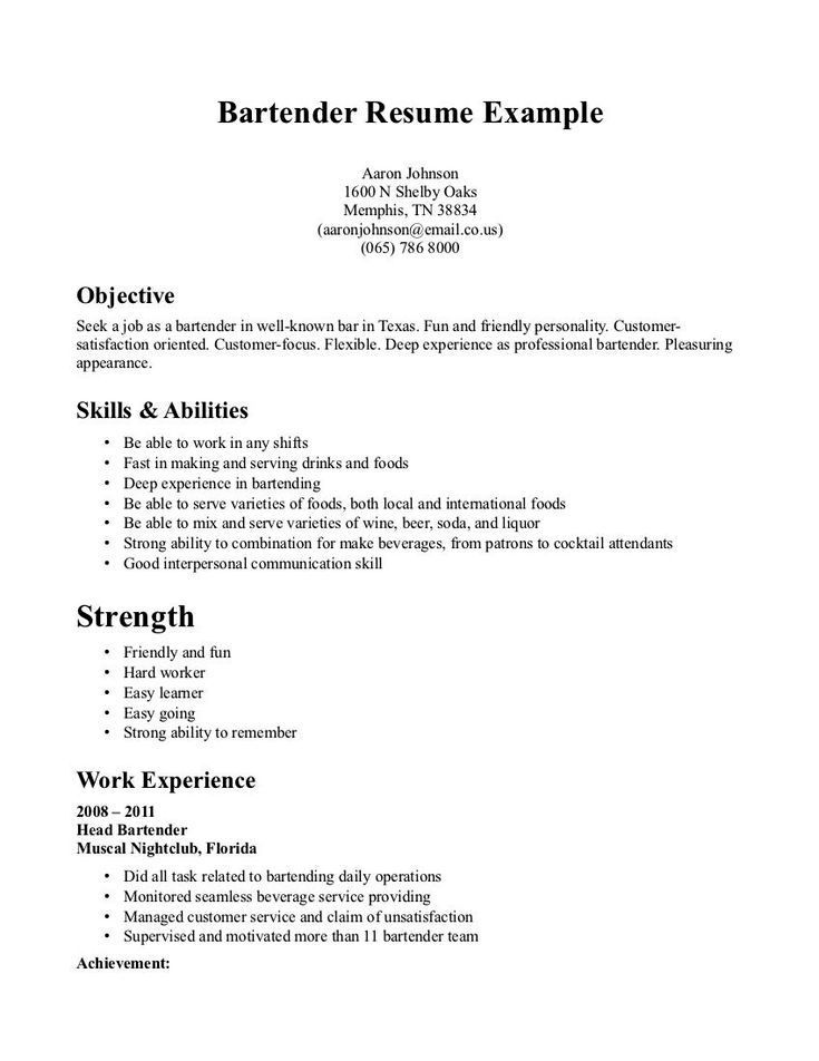 by bartender resume duties format disney plus creating that stands out sample of english Resume Bartender Duties Resume