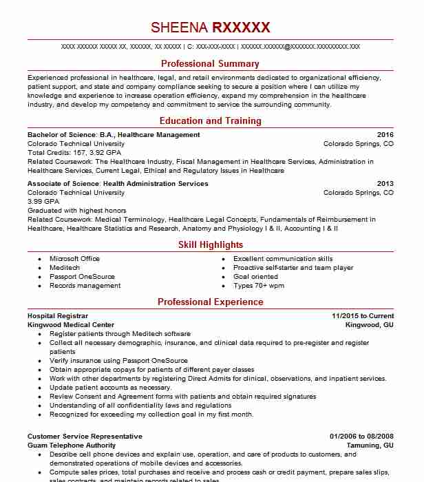 by hospital resume samples format healthcare objective for experienced logistics Resume Healthcare Resume Objective