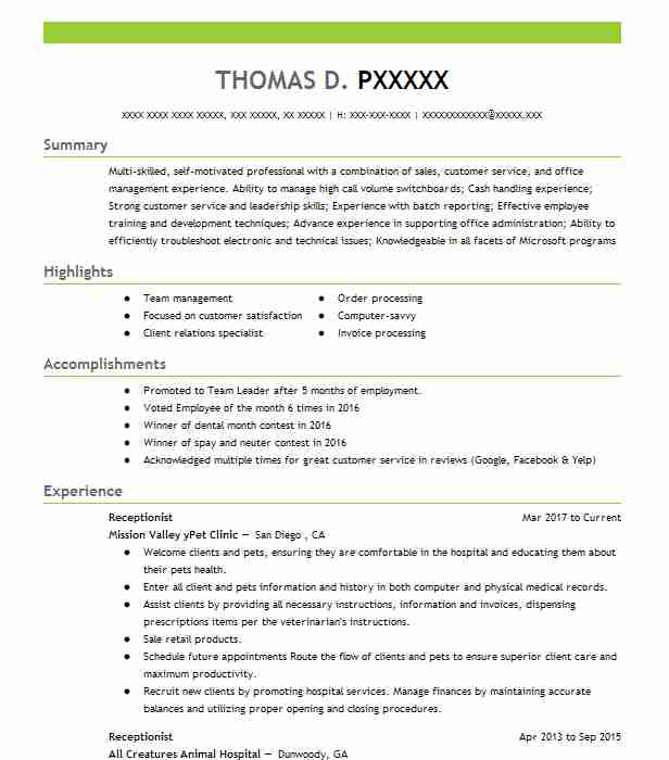 by receptionist resume samples format professional summary sample for most looking Resume Professional Summary Resume Sample For Receptionist
