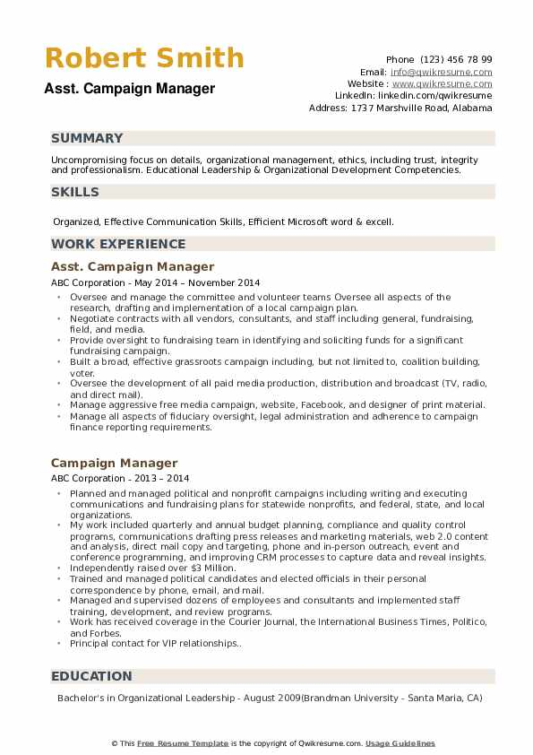 campaign manager resume samples qwikresume director pdf microsoft dynamics consultant Resume Campaign Director Resume