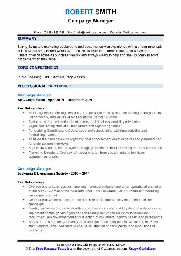 campaign manager resume samples qwikresume political candidate sample pdf director of Resume Political Candidate Resume Sample