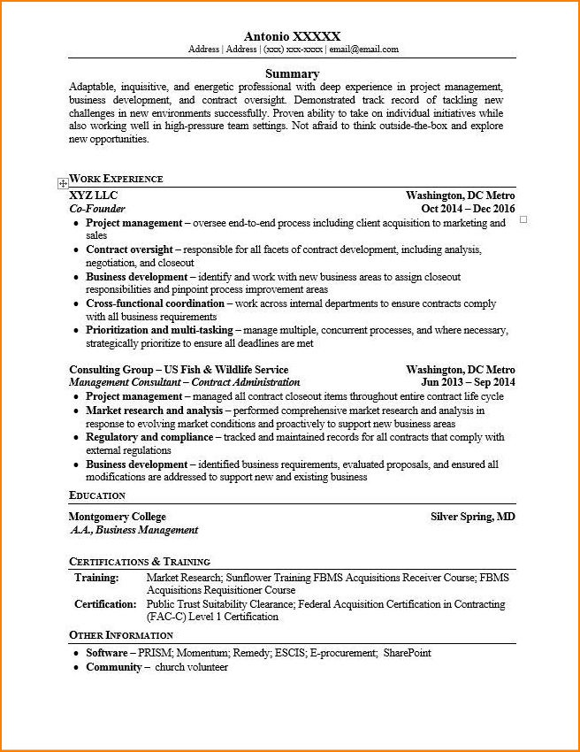 can write about small business have started as startup in my resume for an it company Resume Resume For Owning Your Own Business