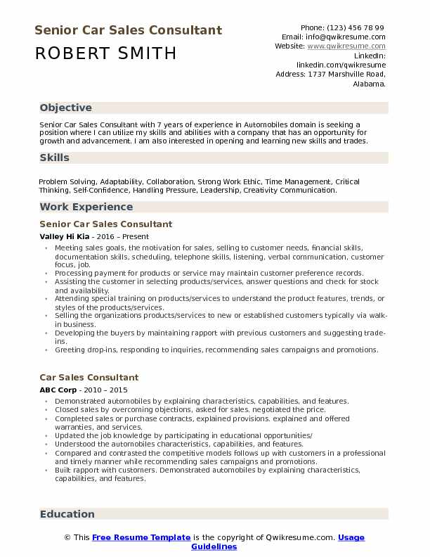 car consultant resume samples qwikresume automobile format for freshers pdf objective on Resume Automobile Resume Format For Freshers