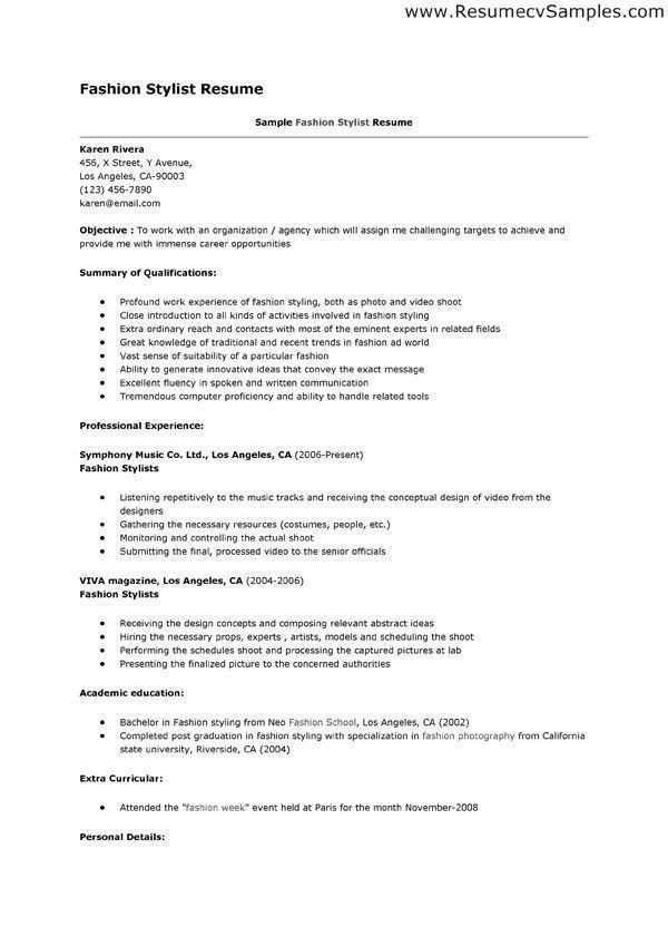 career objective examples fashion designer resume for format civil engineering students Resume Objective For Fashion Designer Resume