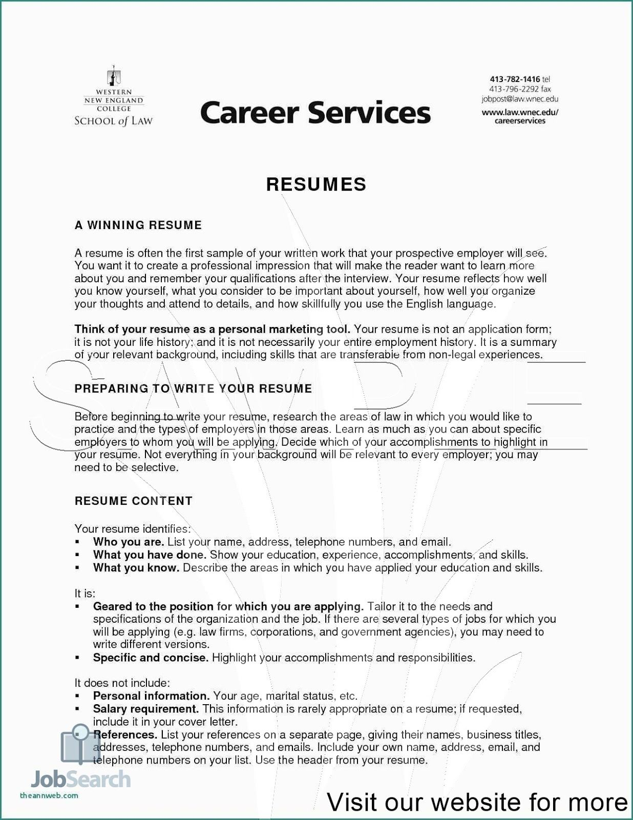 career services resume template free writing professional samples examples sample format Resume Sample Resume 2020 Format