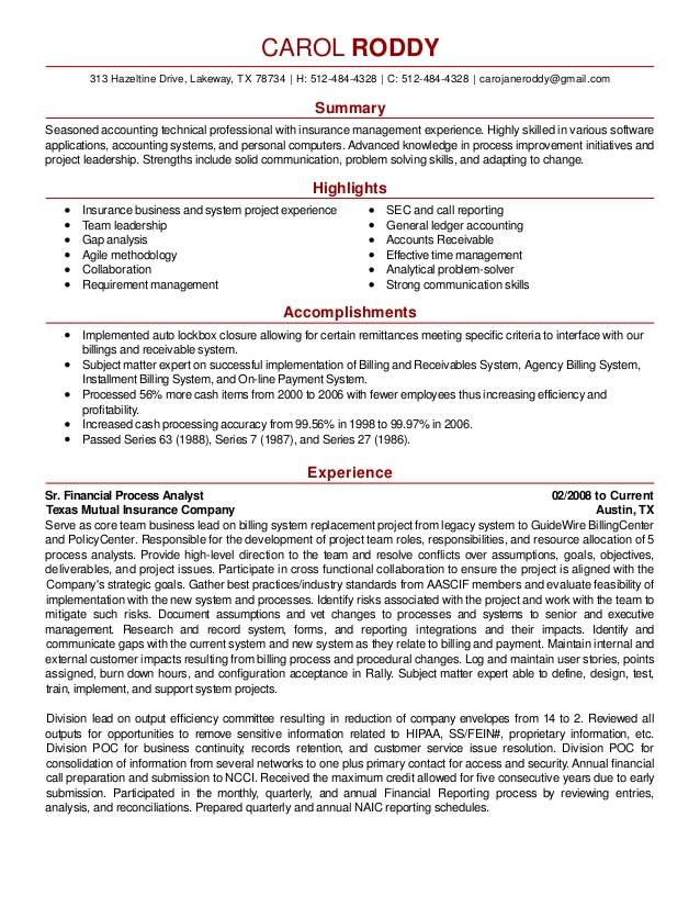 carol roddy resume paragraph format skills for mccombs template data analysis production Resume Skills Paragraph For Resume