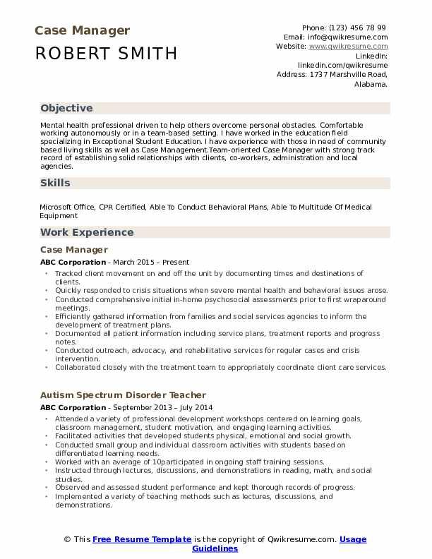 case manager resume samples qwikresume objective for pdf rn summary examples ceat tyre Resume Resume Objective For Manager