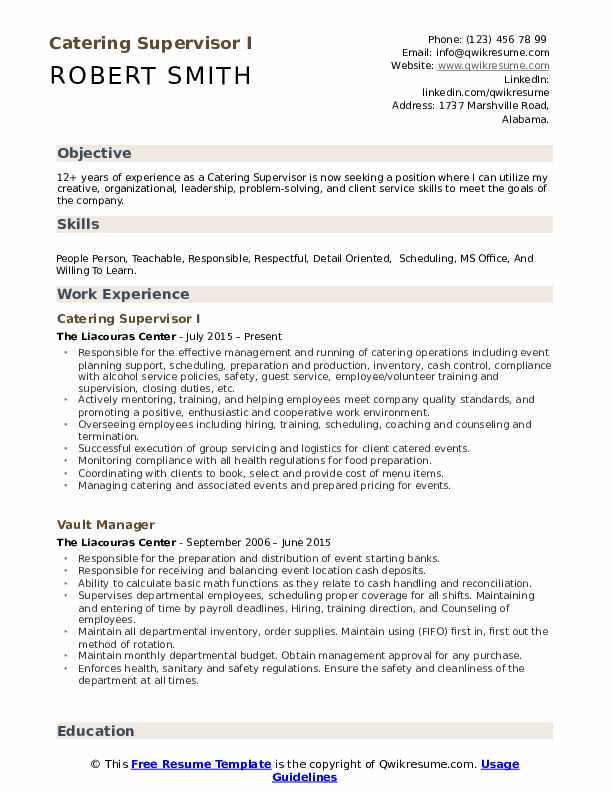 catering supervisor resume samples qwikresume example of pdf animal caretaker sample Resume Example Of Catering Resume
