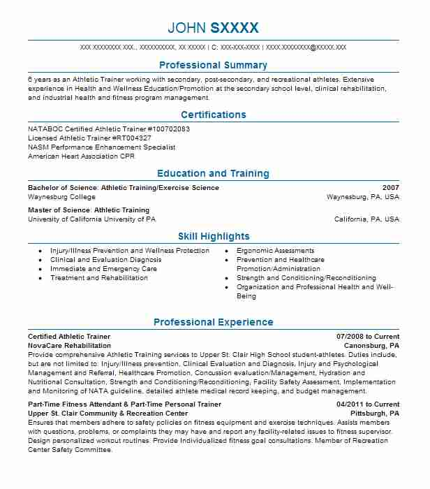 certified athletic trainer resume example mercy health outreach sample good objective for Resume Athletic Trainer Resume Sample