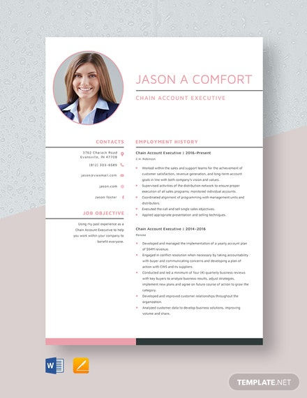 chain account executive resume cv template word apple mac radio operations and supply Resume Radio Account Executive Resume