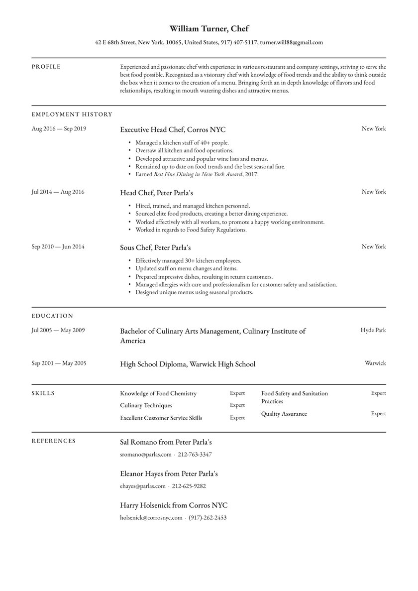 chef resume examples writing tips free guide io summary private music teacher accounting Resume Chef Resume Summary Examples