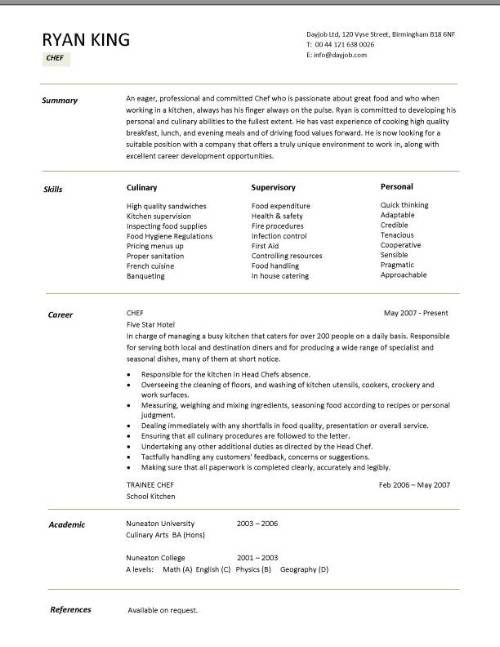 chef resume sample examples sous jobs free template chefs job description work customer Resume Cook Responsibilities For Resume