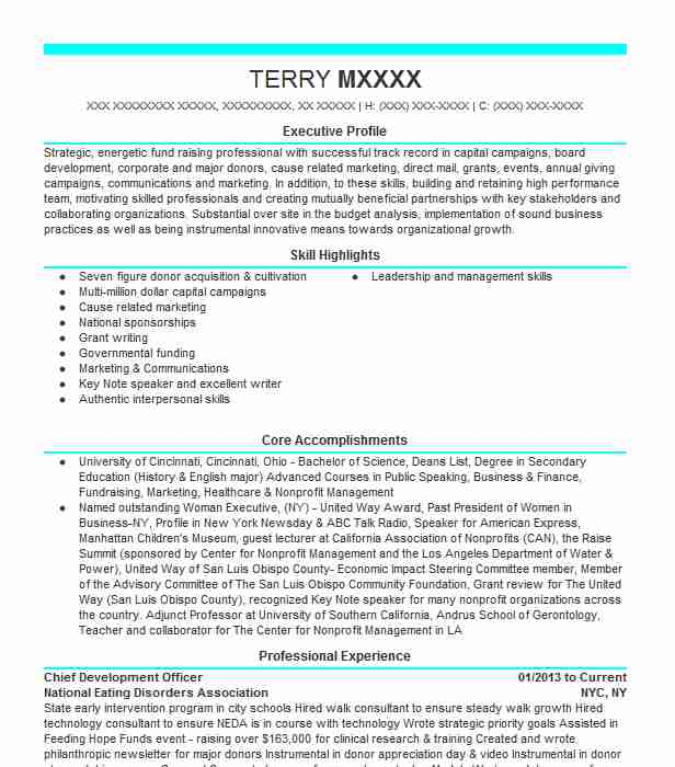 chief development officer resume example jewish family service seattle auto parts sample Resume Chief Development Officer Resume