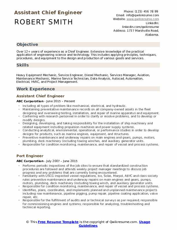 chief engineer resume samples qwikresume marine template pdf affordable service reviews Resume Marine Engineer Resume Template