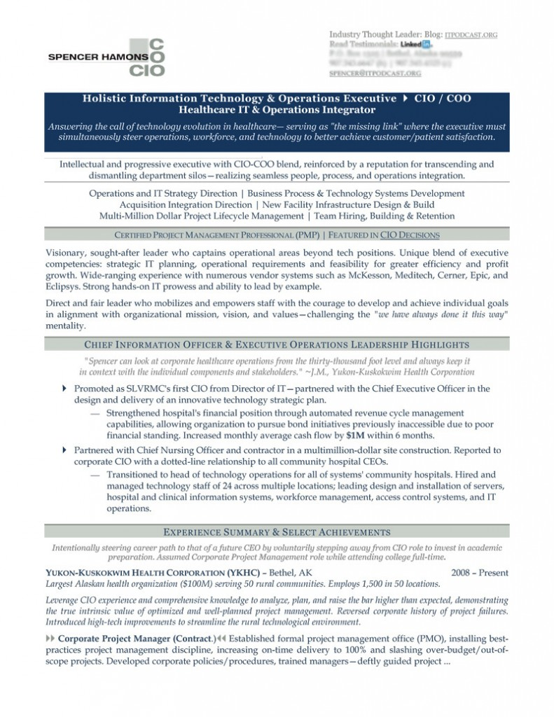 chief information officer resume example cio sample development 791x1024 technical Resume Chief Development Officer Resume