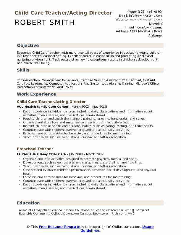 child care teacher resume samples qwikresume childhood pdf examples for year olds biology Resume Early Childhood Teacher Resume