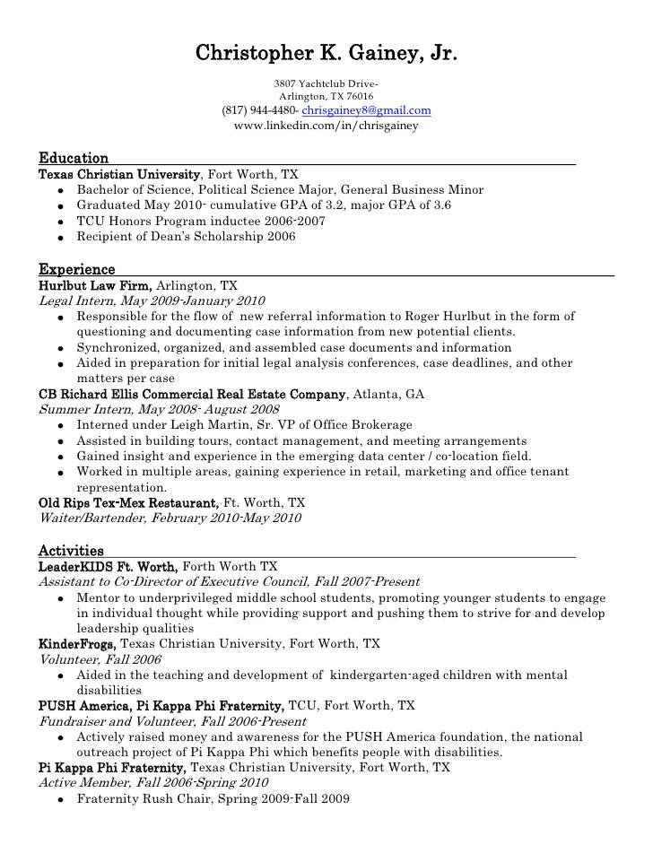 chris gainey resume for fraternity registered nurse template points writing strong Resume Resume For Fraternity Rush