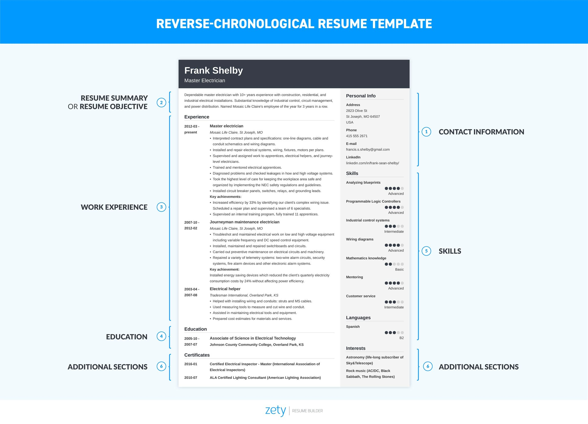 chronological resume template format examples word to write junior network admin school Resume Chronological Resume Template Word