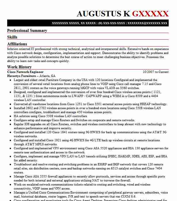 cisco network engineer resume example resumes misc livecareer examples moderno security Resume Network Engineer Resume Examples