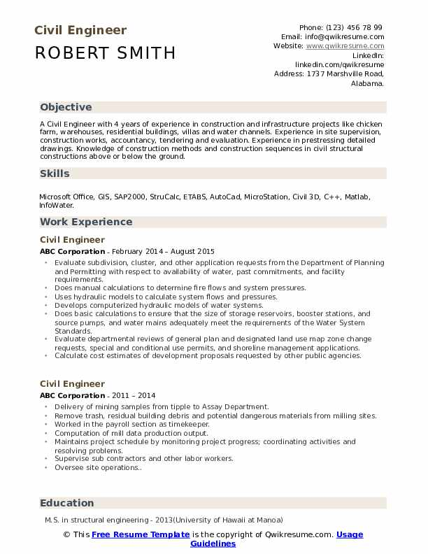 civil engineer resume samples qwikresume objective for engineering student pdf skills you Resume Objective For Civil Engineering Student Resume