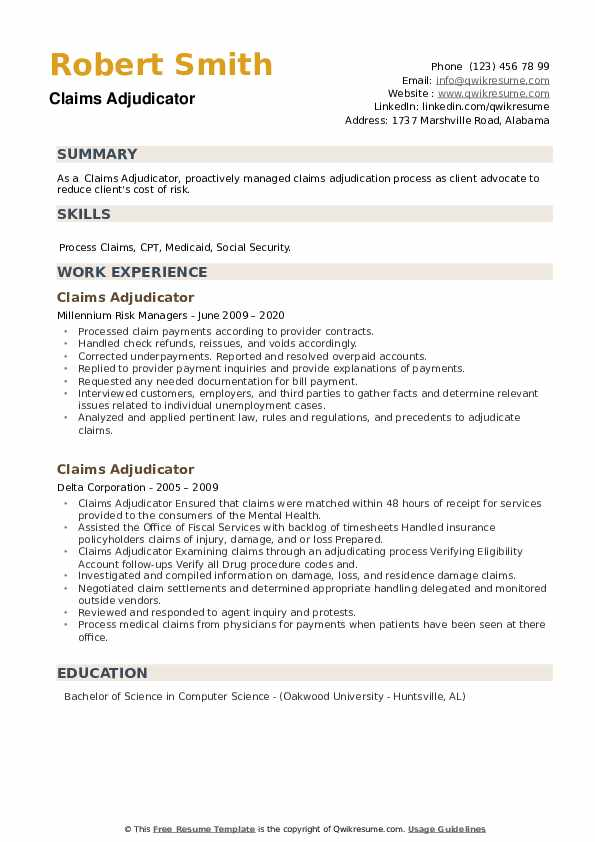 claims adjudicator resume samples qwikresume sample pdf achievement based example Resume Claims Adjudicator Resume Sample