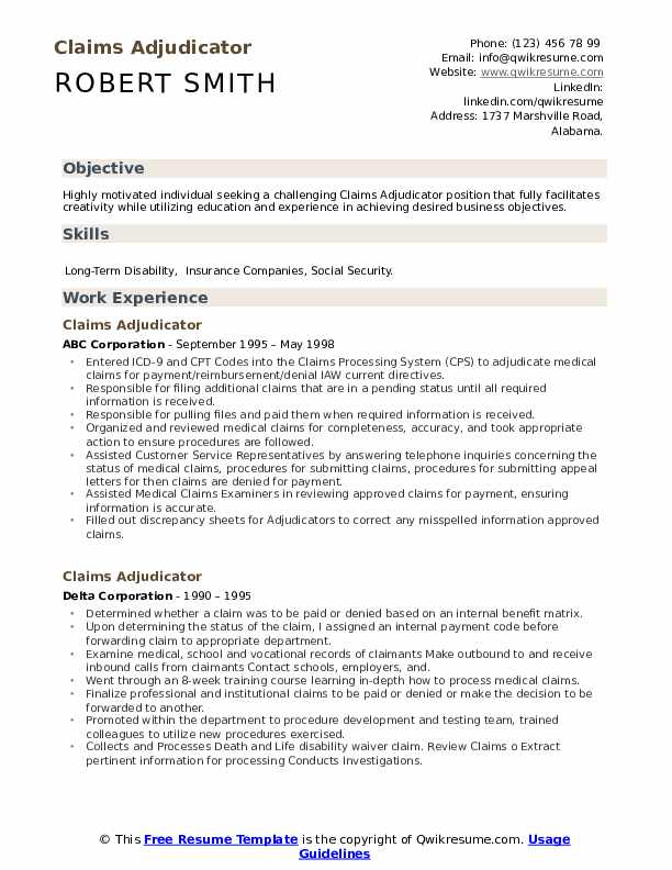 claims adjudicator resume samples qwikresume sample pdf best books for and cover letter Resume Claims Adjudicator Resume Sample
