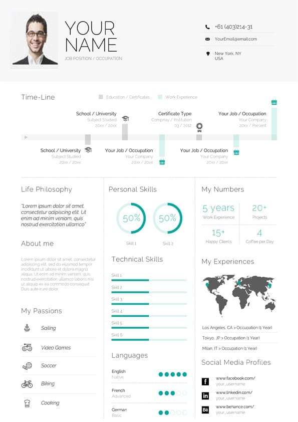 clean infographic resume template for word professional cv format masters application Resume Infographic Resume Template