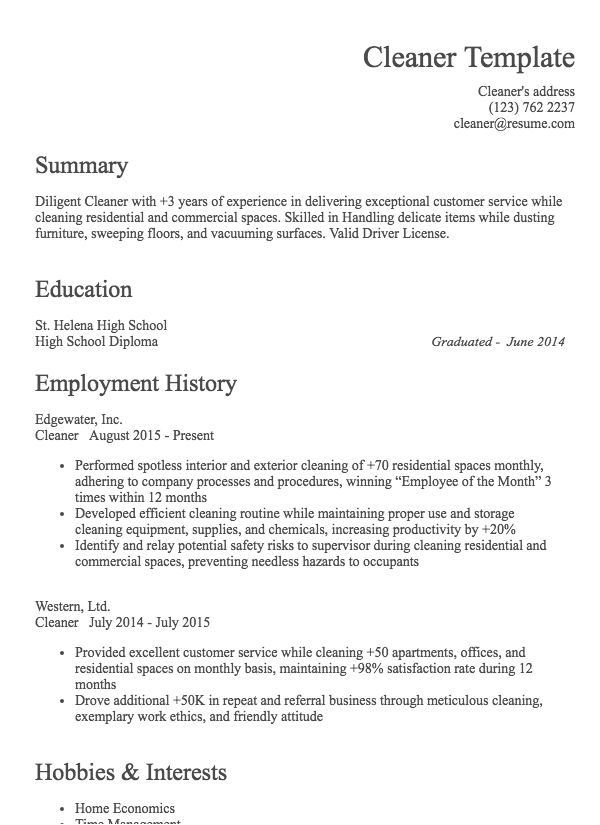 cleaning company resume format residential house with sample for editing job upload on Resume Residential House Cleaning Resume