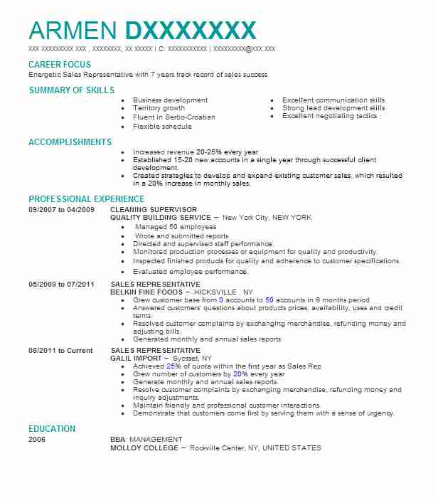 cleaning supervisor resume example resumes livecareer delivery maintenance planner Resume Delivery Supervisor Resume