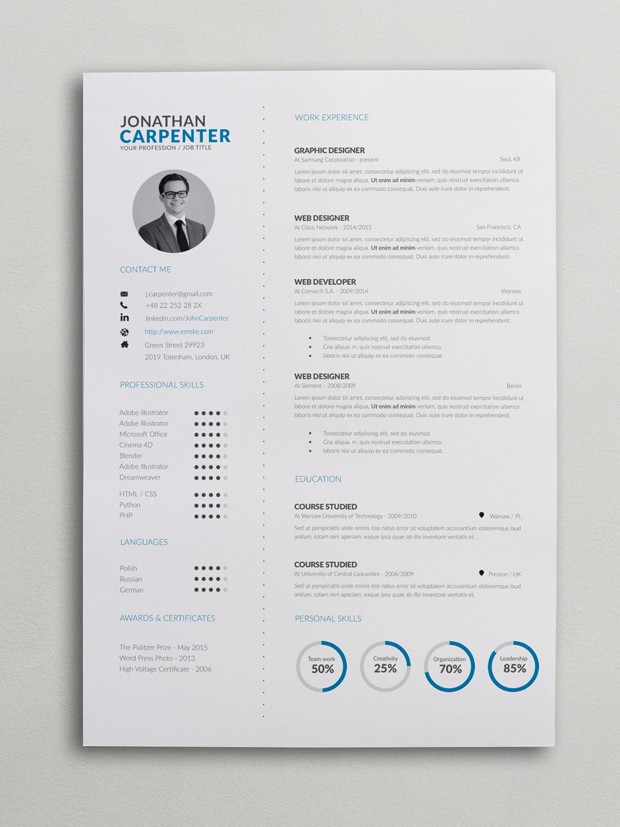 clever resume with charts word template pie chart 620x827 electrician foreman lifeguard Resume Resume Template With Pie Chart